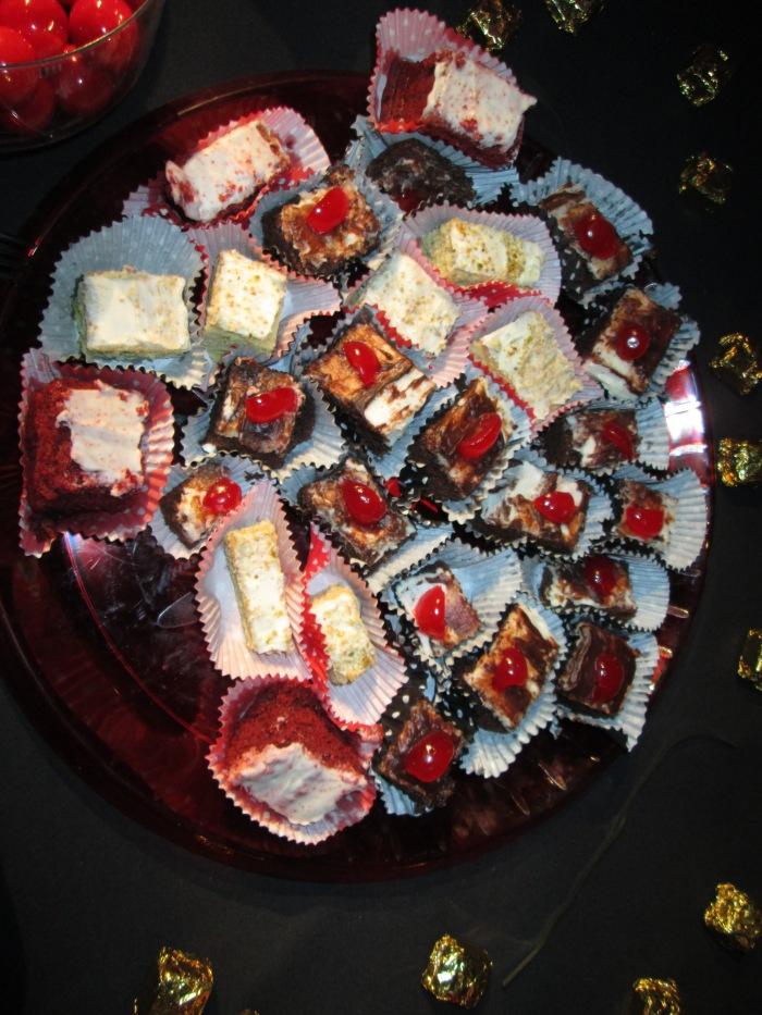 Yup! Red Velvet Cake Squares, Chocolate Sundae Cake Squares and Pistachio Cake Squares