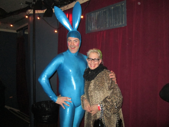 And yes, that's me-lucky enough to get a photo with one of the show's emcees-The Blue Bunny.