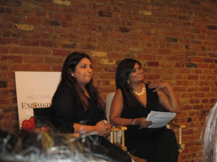 Here is Payal Singhal (left) being interviewed by Joya Dass (right).