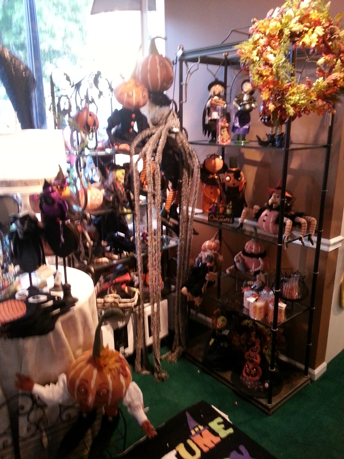 A very fun boutique shop featuring Halloween purchases!